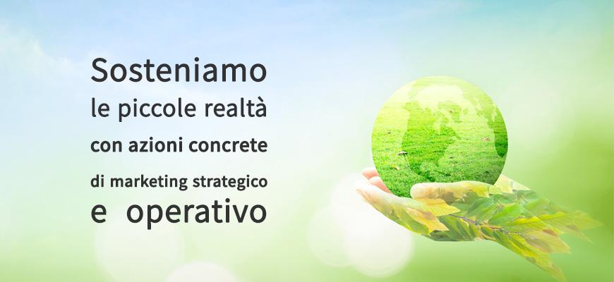 Sosteniamo le piccole realtà con azioni concrete di marketing strategico e operativo.