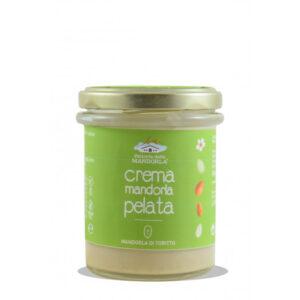 Crema spalmabile di mandorla pelatadi Toritto, cultivar Filippo Cea.