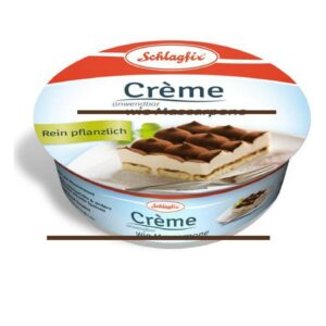 Crema vegetale senza latte per Tiramisù