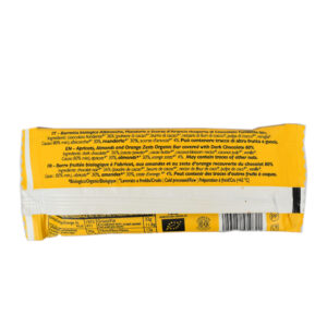 Barretta energetica di albicocche mandorle e scorze di arancia BIO 28 gr