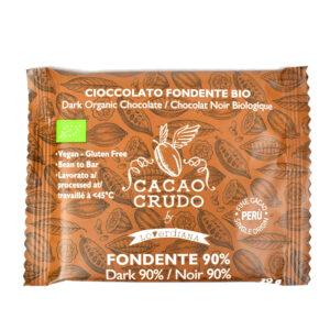 Tavoletta di pasta di Cacao crudo 90% BIO 30 gr