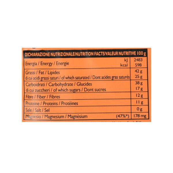 Tavoletta di cioccolato crudo fondente all'arancia BIO 30 gr
