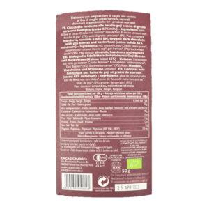 Tavoletta di cioccolato crudo fondente con bacche di goji e grano saraceno BIO 50 gr