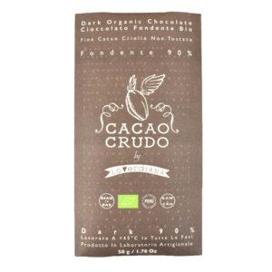 Tavoletta di pasta di Cacao crudo 90% BIO 50 gr