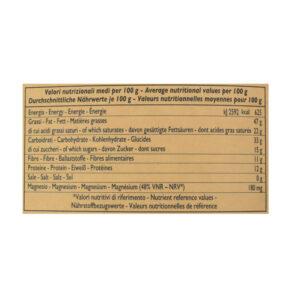 Tavoletta di cioccolato crudo fondente con granella di nocciole BIO 50 gr