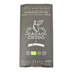 Tavoletta di pasta di Cacao crudo 100% BIO 50 gr