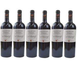 LE MURGE' - PRIMITIVO GIOIA DEL COLLE SECCO BIO 75cl bauletto 6 bottiglie