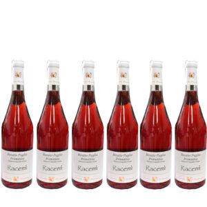 RACEMI' - ROSATO PRIMITIVO BIO 75cl bauletto 6 bottiglie