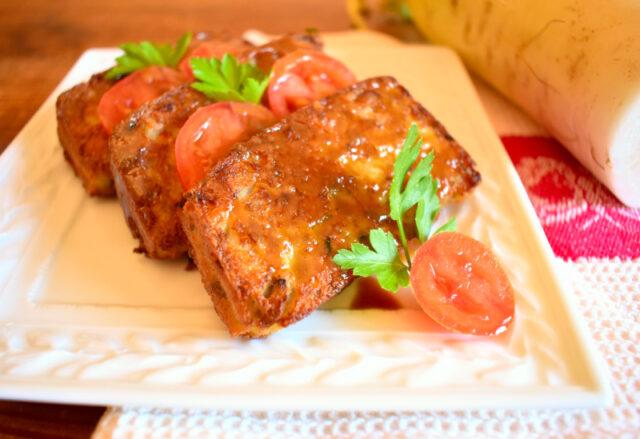 Turnip Cake Vegan (tortino di Daikon)